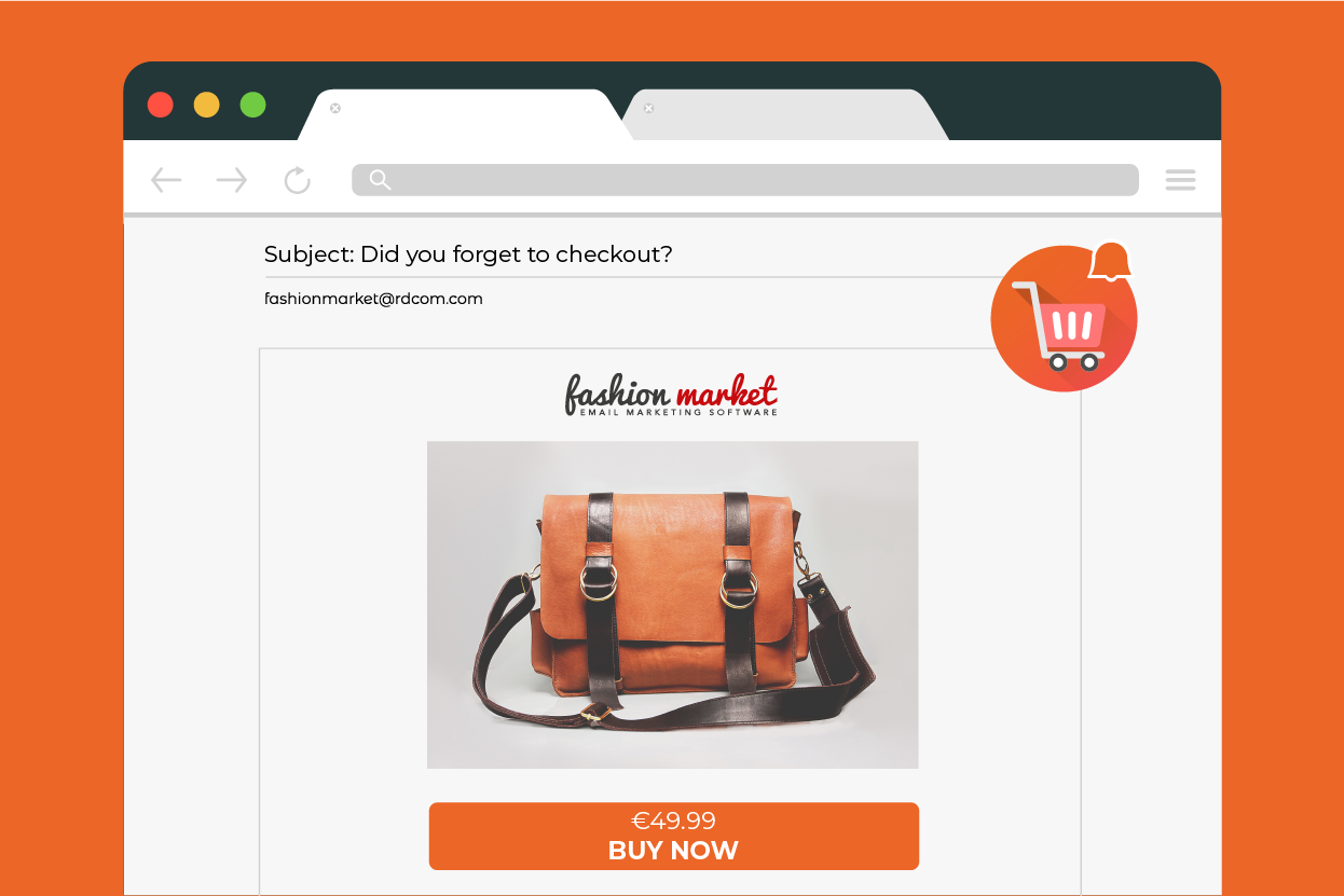 abandoned cart email for ecommerce