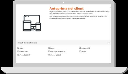 anteprima client email