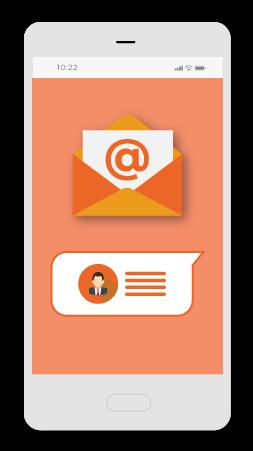 la potenza degli sms e delle email