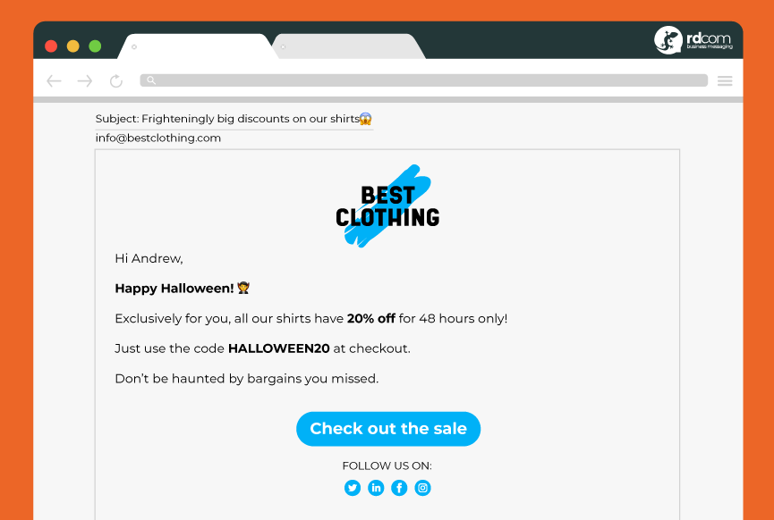 Halloween Email Marketing Example