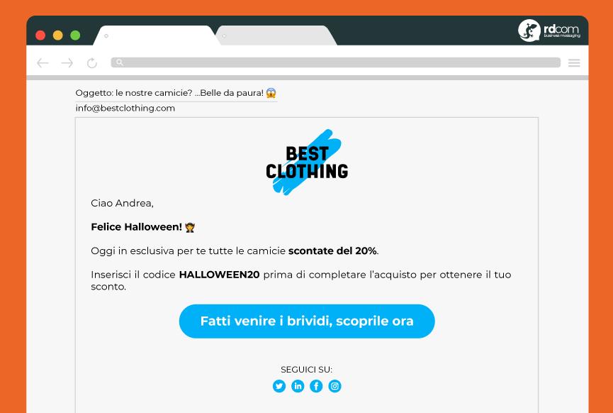 esempio email halloween ITA