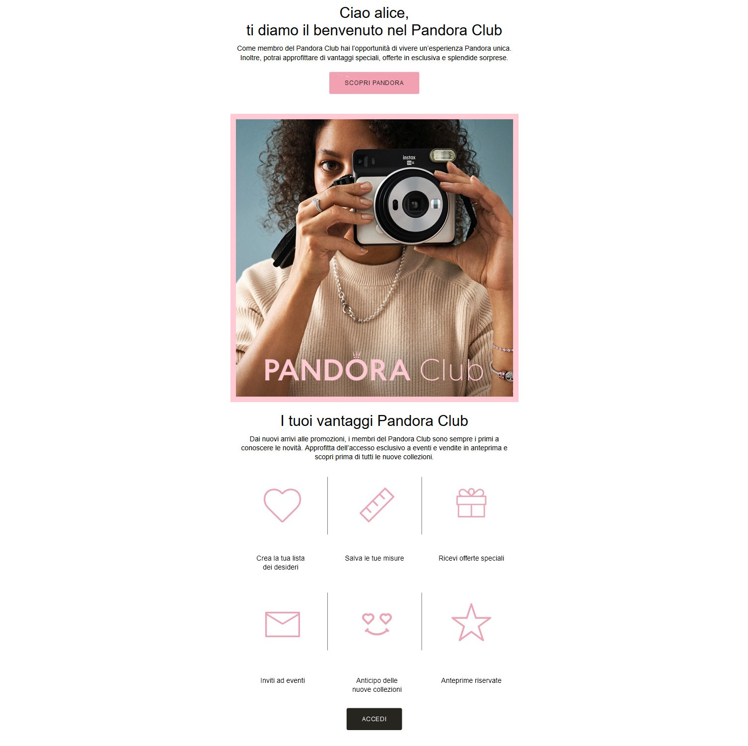 pandora-email-benvenuto