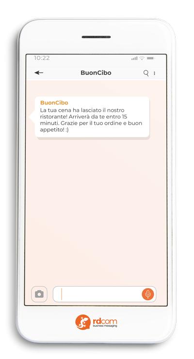 esempio SMS aggiornamenti notifiche
