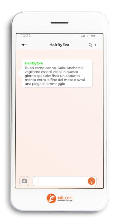 Esempio uso SMS per auguri