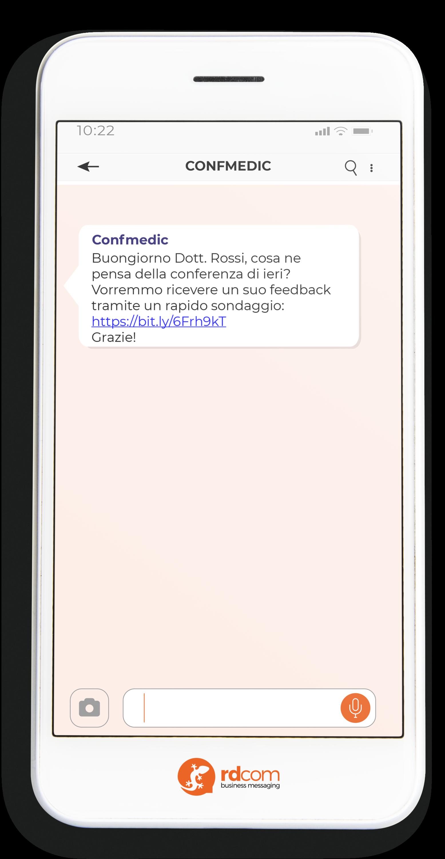Esempio uso SMS per ricevere feedback