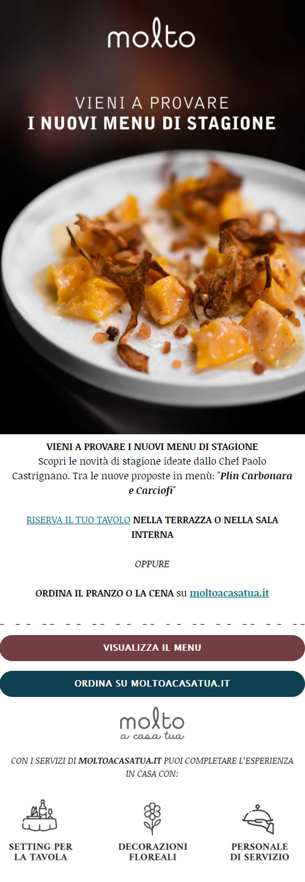 esempio email informativa Molto Italiano