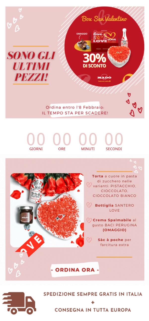 esempio email promozionale Madò Pasticceria Online