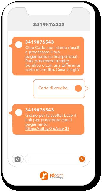 Esempio di SMS 2-way per customer care