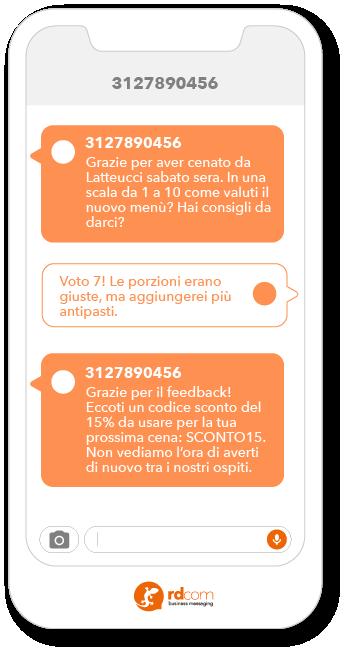 Esempio di SMS 2-way per sondaggio