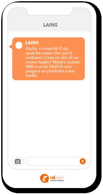 Esempio SMS per clienti inattivi