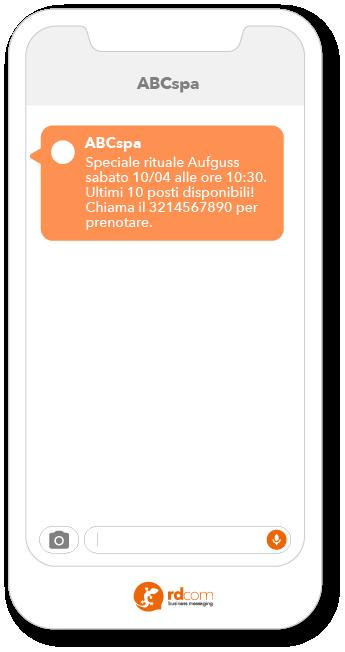 Esempio SMS per eventi
