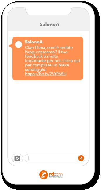Esempio SMS per ricevere feedback