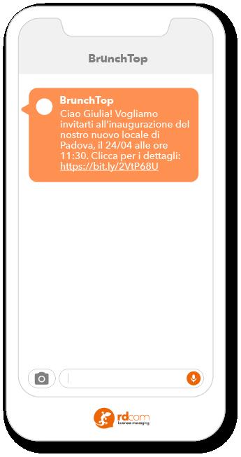 esempio SMS di invito ad evento