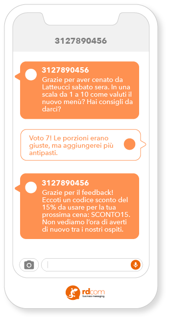 esempio SMS promozionale