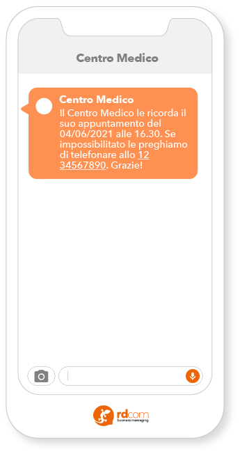 Esempio SMS Marketing Healthcare