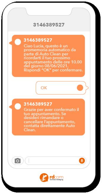 SMS advertising esempi